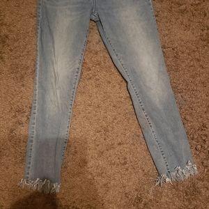 Old Navy Rockstar skinny pom pom hem ankle jeans